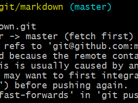 git push时提示rejected because the remote contains work that you do not have locally