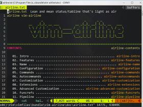 vim插件之vim-airline配置及Powerline字体设置