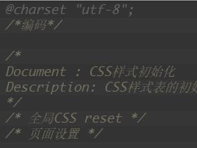 CSS样式初始化